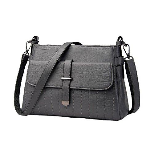 Top Handle Mujer Bolsos Carteras Bolsas De Hombro Bolso Monedero Multicolor Grey