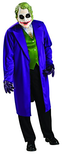 Batman The Dark Knight Joker Costume, Black/Purple, (Batman The Joker Costume)