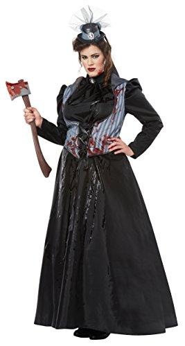 California Costumes Women's Size Lizzie Borden/Axe Murderessadult Plus, Black/Gray 3X ()