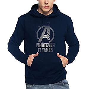 ADRO Men's Super Hero Avengers Printed Hoodies (Navy Blue)