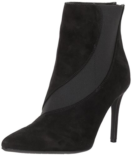 Nine West Women's Fran9x Suede Mid Calf Boot Black/Black Suede nYKyNh