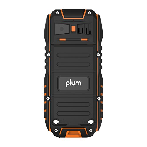 Rugged Cell Phone Unlocked GSM Waterproof Shockproof Powerful Battery Flashlight Military Grade IP68 Certified Black Orange by Plum (Image #2)
