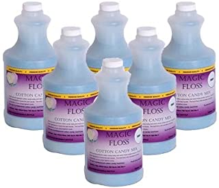 product image for 4 lbs Magic Floss Sugar in Easy Pour Bottle (Set of 6) Flavor: Grape