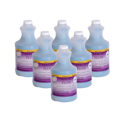 4 lbs Magic Floss Sugar in Easy Pour Bottle (Set of 6) Flavor: Grape by Paragon International