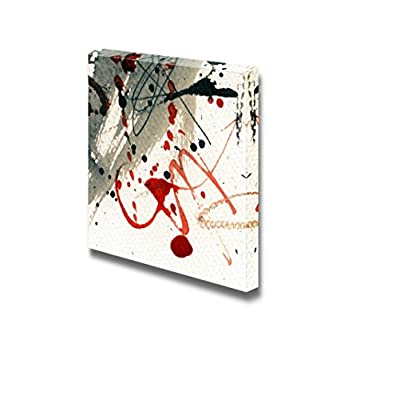 Canvas Prints Wall Art - Abstract Grunge Painting | Modern Wall Decor/Home Art Stretched Gallery Canvas Wraps Giclee Print & Ready to Hang - 24