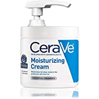 CeraVe Moisturizing Cream   16 Ounce with Pump   Daily Face and Body Moisturizer for Dry Skin