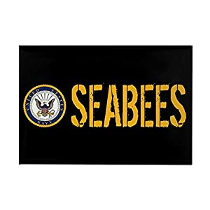 "CafePress U.S. Navy: Seabees (Black) Magnets Rectangle Magnet, 2""x3"" Refrigerator Magnet by CafePress"