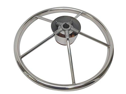 Pactrade Marine Boat Stainless Steel Five Spoke Steering Wheel with Bakelite Cap, 13.75'' L by Pactrade Marine (Image #4)