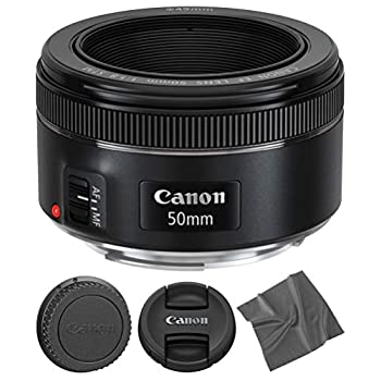Image of Accessory Bundles Canon EF 50mm f1.8 STM: Lens (0570C002) + AOM Microfiber Cleaning Cloth - International Version (1 Year AOM Warranty)