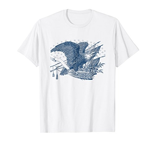 Vintage Patriotic Screaming Eagle USA Flag Arrows T-Shirt