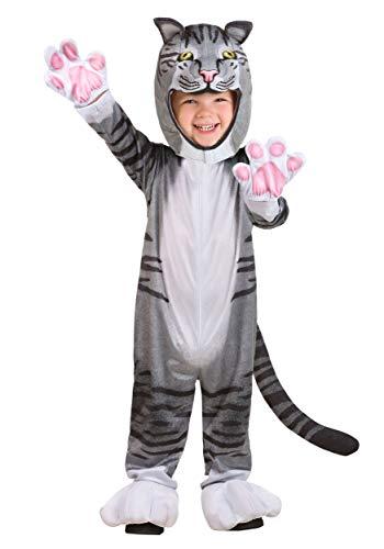 Gray Cat Costume (Toddler Curious Cat Costume 4T)