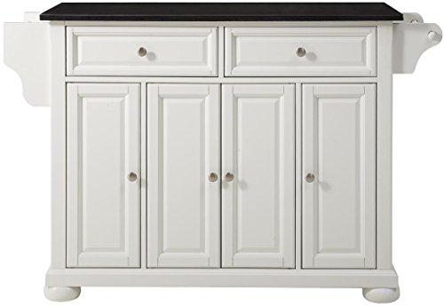 (Crosley Furniture Alexandria Kitchen Island with Solid Black Granite Top - White )