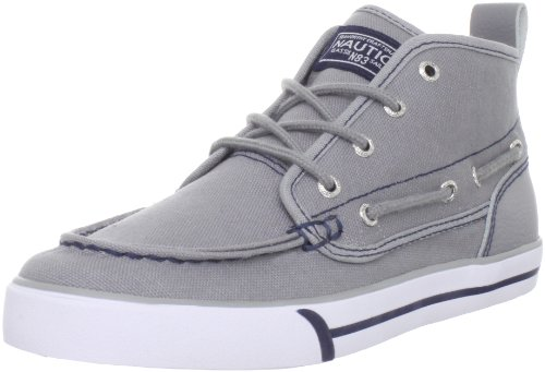 Nautica Del Mar Canvas Deck Boot (Little Kid/Big Kid),Grey,1 M US Little Kid