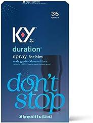 Duration Spray for Men, K-Y Male Genital Desensitizer Numbing Spray to Last Longer, 0.16 Fl Oz, 36 Sprays, Mad