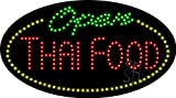 Thai Food Open Animated Outdoor LED Sign 15'' Tall x 27'' Wide x 3.5'' Deep