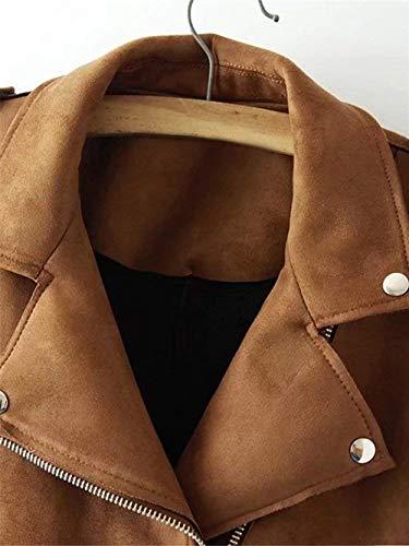 Moda Khaki Outerwear Hot Eleganti Vintage Giubotto Transizione Di Invernali Donna Lunga Glamorous Antivento Bavero Semplice Puro Manica Zip Casual Colore Giacche Giubbino Awxp7qR1w