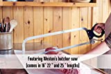 Weston Butcher Saw with 16 Inch Stainless Steel Blade