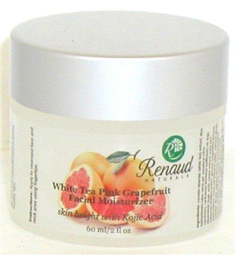 Renaud Naturals White Tea Pink Grapefruit Facial Moisturizer Skin Bright with Kojic Acid 2 Fl. Oz -  Arch Naturals, 07657