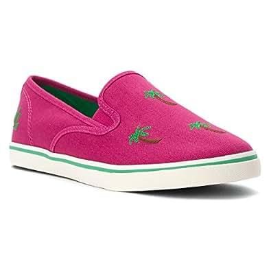 Lauren Ralph Lauren Janis de la Mujer Moda Zapatillas: Amazon.es: Zapatos y complementos