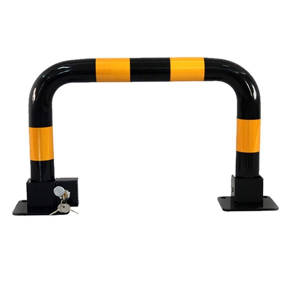 Safety Equipment Parking Barrier Manual Parking Bezel and Space Saving Made of Metal, with 3 Keys as a car Barrier, with Reflective Markers to Lock The Park Reliable Product