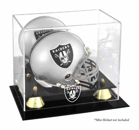 Mounted Memories Oakland Raiders Mini Helmet Display Case