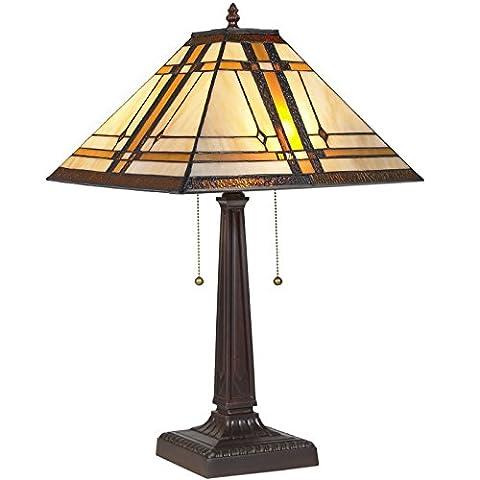 LTL Shop Tiffany Style Table Reading Lamp Mission Design Table Desk Lighting - Ceramic Tortoise Vases