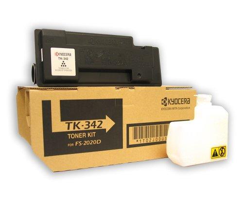 Kyocera 1T02J00US0 Model TK-342 Black Toner for FS-2020, Genuine Kyocera, Up To 12000 Pages