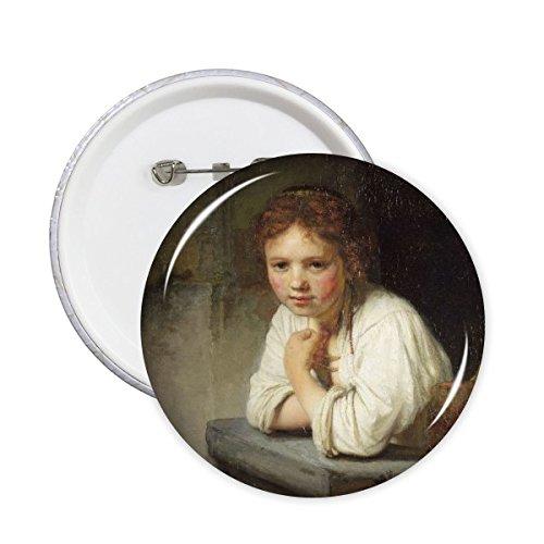 Maid Rembrandt Harmenszoon Van Rijn Famous Oil Panintings Oils Round Pin Badge Button 5pcs