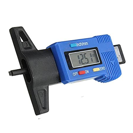 Tire Tread Tester - TOOGOO (R)Blue LCD Digital Display pneu Tire Tread Depth Gauge de plaquettes de frein Testeur Caliper TOOGOO(R) SPAGMT43031