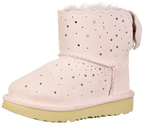 UGG Girls' Mini Bailey Bow II Starry LITE Fashion Boot, Seashell Pink, 9 M US Toddler (Pink Bows Uggs)