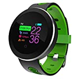 Axiba Fitness Tracker, Color Screen Activity Tracker with Heart Rate Monitor, Sleep Monitor, 14 Sports Modes, IP68 Waterproof Pedometer, Step Counter for Kids, Women, Men (B)