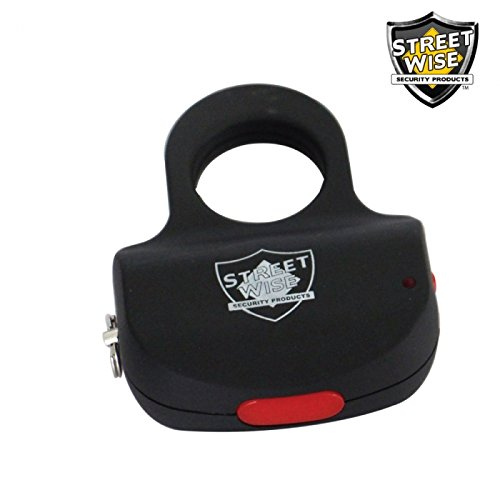Sting Ring w/ KEY RING 18 Million Stun Gun - BLACK stun gun Discrete Protection by Streetwise Security