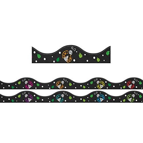 Ashley Productions Chalk Ladybugs Magnetic Border (12 Piece), 12