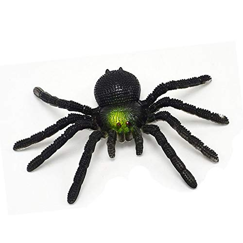 X Hot Popcorn PVC Simulation Spider Fake Spider, Mischievous Toys, Pack of 10 (Large Spider) ()