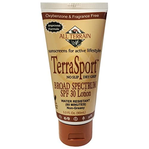 "All Terrain ""Improved Formula TerraSport SPF 30-3oz, Sunscreen Lotion, Oxybenzone, Paraben & Dimethicone Free, Water Resistant, Reef-Safe"