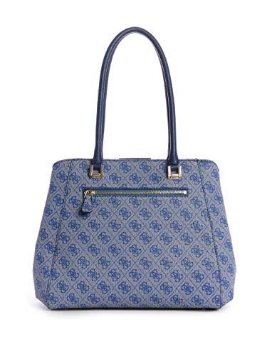 GUESS Satchel Logo Quattro G Blue Luxe 7wY7TqC