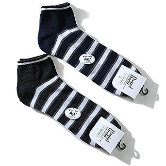 4a2410270770a0 Amazon | DANIEL DODD 抗菌防臭 ボーダー柄 スニーカーソックス 靴下 azsk-17503 大きいサイズ メンズ 29cm  31cm | スポーツソックス 通販