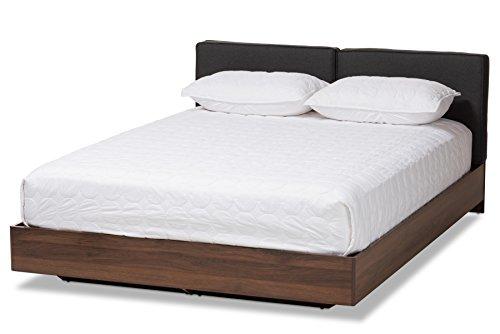 - Baxton Studio 148-8251-AMZ Gracieux Storage Bed, Queen, Dark Grey/Walnut Brown
