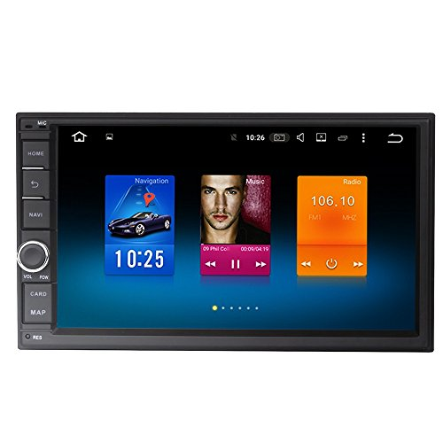 Dasaita 7 Inch Android 9.0 Universal Double Din Car Stereo (4G RAM+32G ROM) Octa-Core PX5 Chip Fit for Nissan Juke X-Trail Sunny High Equipment Version