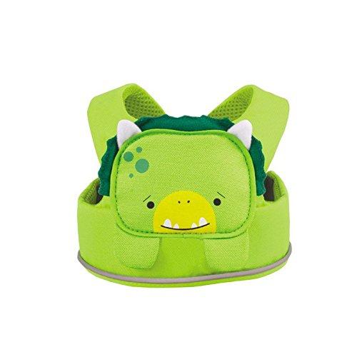Trunki ToddlePak - Fuss Free Toddler Walking Leash & Kid's Safety Harness – Dudley Dinosaur (Green) 0152-GB01