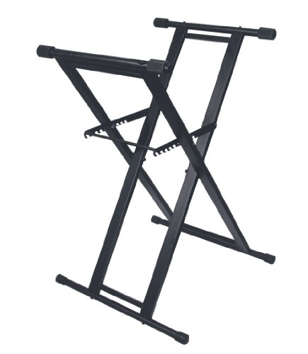 Odyssey LTBXS X-Stand: Double Braced Dj Coffin And Keyboard Stand -