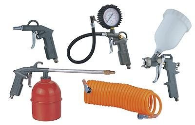 5piezas de accesorios de Kit de compresor de aire pistola de pulverización línea de aire manguera de aire de herramientas nuevo: Amazon.es: Coche y moto