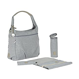 Lassig Women's Green Label Hobo Baby Diaper Bag, Grey