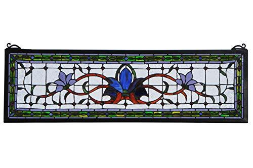 Meyda Lighting Fairytale Transom Stained Glass Window in Multicolor