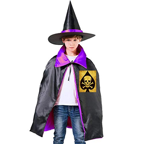 One of my Skull Poker Halloween Shawl and Witch Hat for Children Kids Purple -