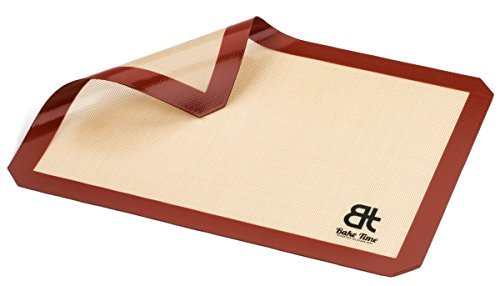Bake Time Non Stick Silicone Baking Mat - Half Sheet Size- 11 5/8 inch x 16 1/2 inch - Free Silicone Spatula with Purchase