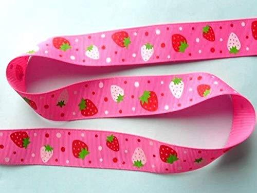 FidgetKute 4 Yards Strawberry Ribbon Trim Applique 25mm Bridal Motif Gift TA13a