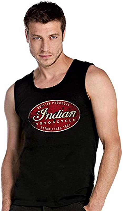 Indian Panhead Angels mc Motorradclub Biker Chopper Schwarze ärmellos T-Shirt Tank Top - 2172: Odzież