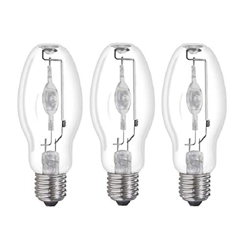 3 Pack MH400/U/MOG 400-Watt Metal Halide ED37 Bulb, Mogul Base, Clear Bulb Ed37 Mogul Base