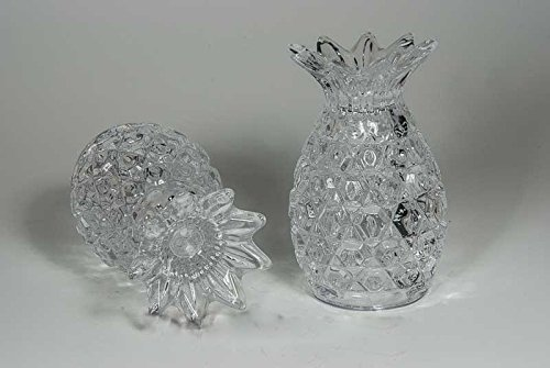 King International 100% Crystal Glass diamond cut Salt and Pepper | Set of 2 Pieces 8 cm | with Sturdy stopper | by King International (Image #2)